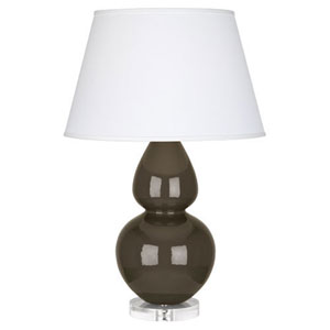 Double Gourd Brown Tea Ceramic One-Light Table Lamp