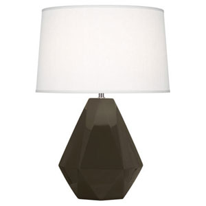 Delta Brown Tea and Polished Nickel One-Light Table Lamp
