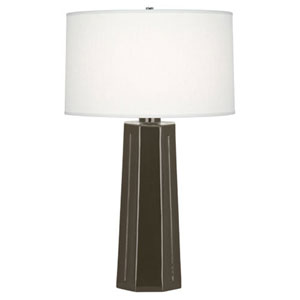Mason Brown Tea and Polished Nickel One-Light Table Lamp