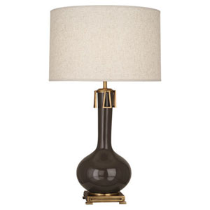 Athena Brown Tea and Aged Brass One-Light Table Lamp