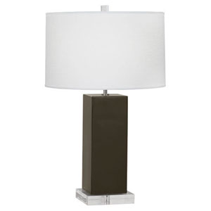 Harvey Brown Tea and Polished Nickel 33-Inch One-Light Table Lamp