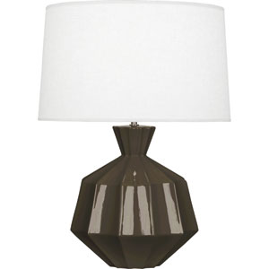 Orion Brown Tea One-Light 27-Inch Ceramic Table Lamp