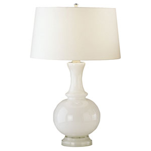 Glass Harriet White One-Light Table Lamp