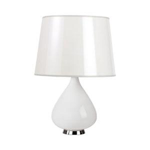 Jonathan Adler Capri White One-Light Table Lamp