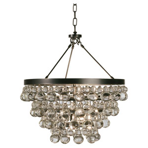 Bling Deep Patina Bronze Four-Light Chandelier
