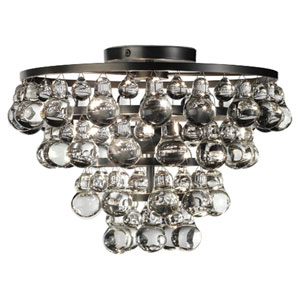 Bling Deep Patina Bronze Two-Light Flush Mount