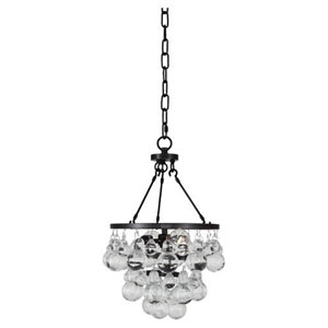 Bling Deep Patina Bronze Two-Light Mini Chandelier