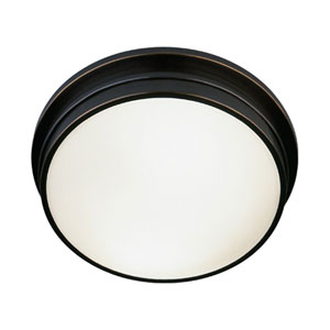 Roderick Deep Patina Bronze Two-Light Flush Mount