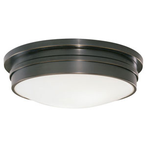 Roderick Deep Patina Bronze Three-Light Flush Mount