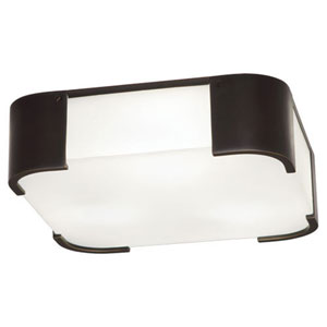Bryce Deep Patina Bronze Three-Light Flush Mount