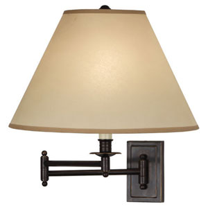 Kinetic Deep Patina Bronze One-Light Wall Swinger