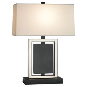 Crispin Bronze and Antique Silver One-Light Table Lamp