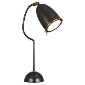 Director Deep Patina Bronze and Aged Brass One-Light Desk Lamp