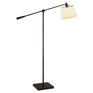 Real Simple Dark Bronze Powder One-Light Floor Lamp