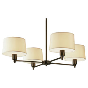 Real Simple Dark Bronze Powder Four-Light Chandelier