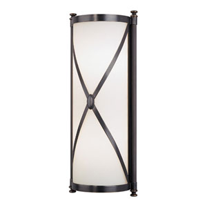 Chase Deep Patina Bronze Two-Light Bath Sconce