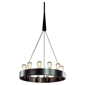 Rico Espinet Candelaria Deep Patina Bronze Twelve-Light Chandelier