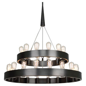 Rico Espinet Candelaria Deep Patina Bronze 30-Light Chandelier