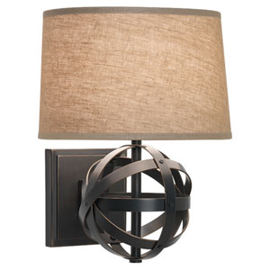 Lucy Deep Patina Bronze One-Light Sconce