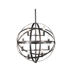 Lucy Deep Patina Bronze Eight-Light Chandelier