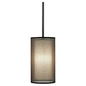 Saturnia Deep Patina Bronze One-Light Mini Pendant