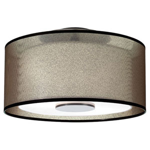 Saturnia Deep Patina Bronze Two-Light Flush Mount
