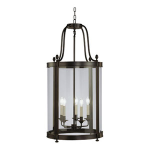Blake Deep Patina Bronze Five-Light Chandelier
