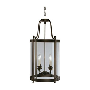 Blake Deep Patina Bronze Four-Light Chandelier