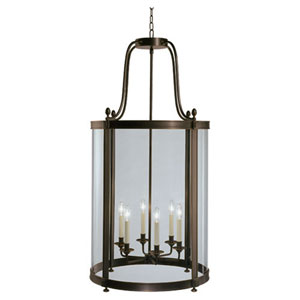 Blake Deep Patina Bronze Six-Light Chandelier