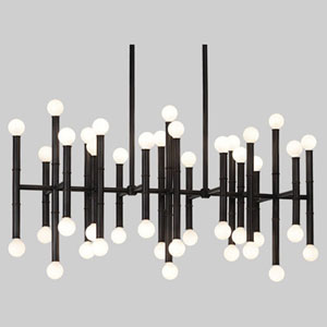 Jonathan Adler Meurice Deep Patina Bronze 42-Light LED Chandelier