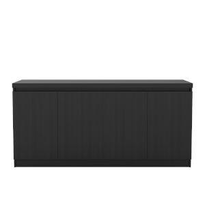 Viennese Black Matte 63-Inch Six-Shelf Sideboard