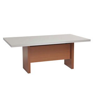 Dover Off White Dining Table with Glass Top