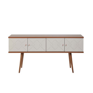 Trinity Off White and Maple Cream 60-Inch Sideboard