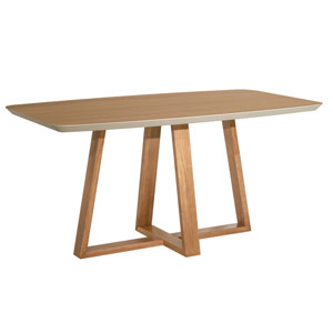 Duffy Off White Rectangle Dining Table