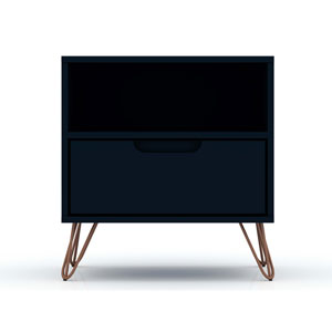Rockefeller Blue One-Drawer Nightstand