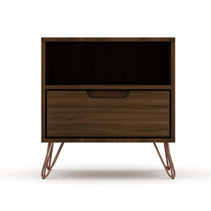 Rockefeller Brown One-Drawer Nightstand