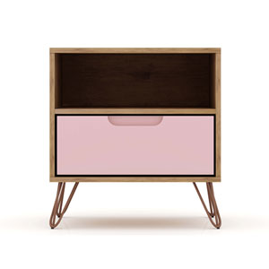 Rockefeller Pink One-Drawer Nightstand