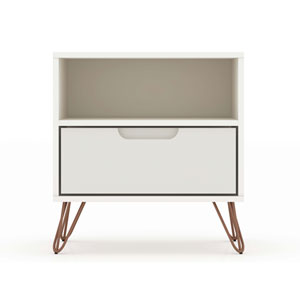 Rockefeller Off White One-Drawer Nightstand