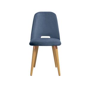 Selina Blue Velvet Accent Chair