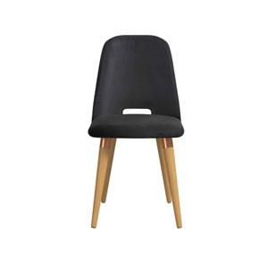Selina Black Velvet Accent Chair