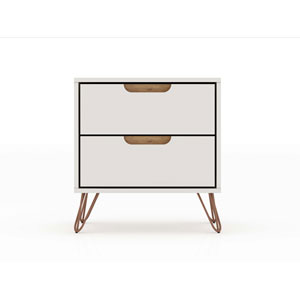 Rockefeller Off White Two-Drawer Nightstand
