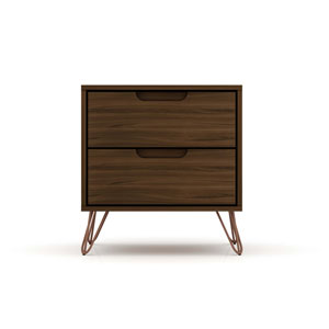 Rockefeller Brown Two-Drawer Nightstand