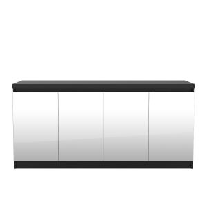 Viennese Black Matte 63-Inch Sideboard