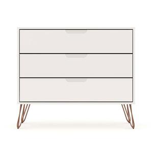 Rockefeller White Three-Drawer Dresser Chests