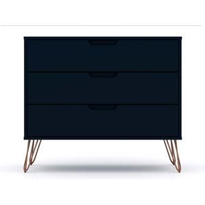 Rockefeller Blue Three-Drawer Dresser Chests