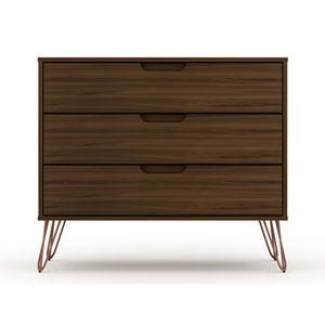 Rockefeller Brown Three-Drawer Dresser Chests