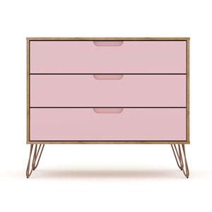 Rockefeller Pink Three-Drawer Dresser Chests