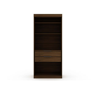 Brown Two Drawers Storage Armoire