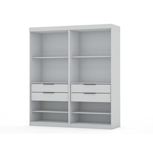 White Two Sectional Four Drawers Armoires