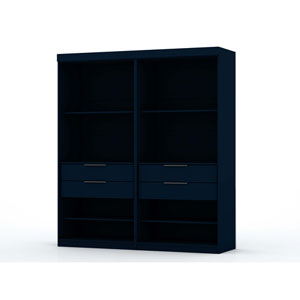 Blue Two Sectional Four Drawers Armoires